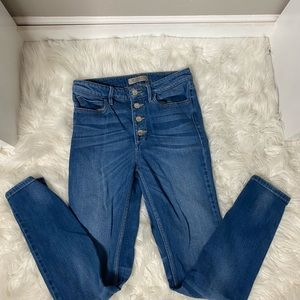 GUESS    vintage high rise button up jeans